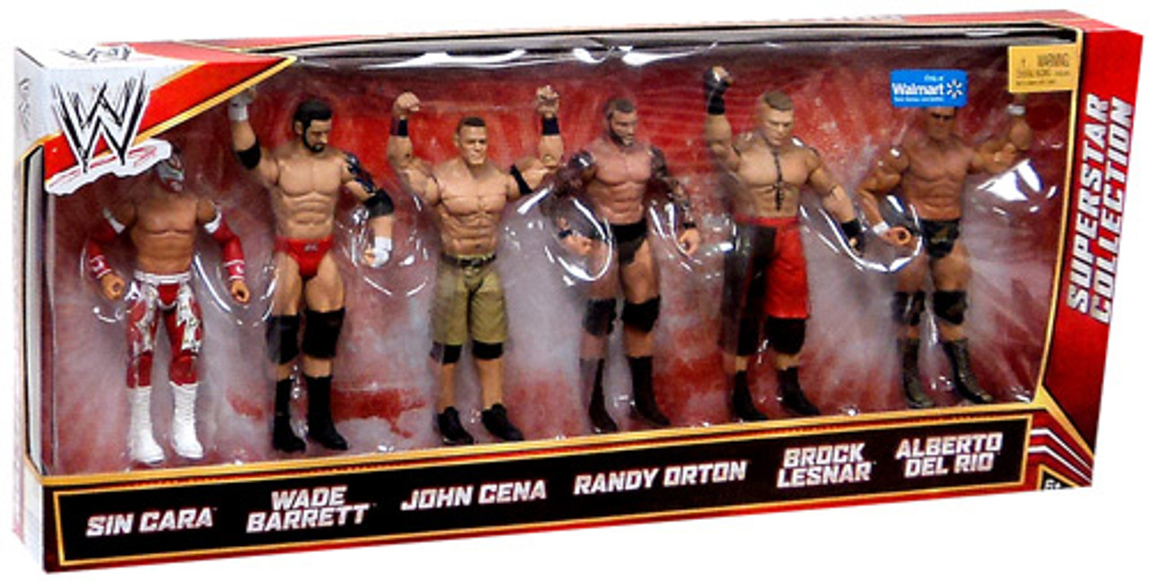 WWE Wrestling Sin Cara, Barrett, Cena, Orton, Lesnar & Del Rio Exclusive Action Figure 6-Pack