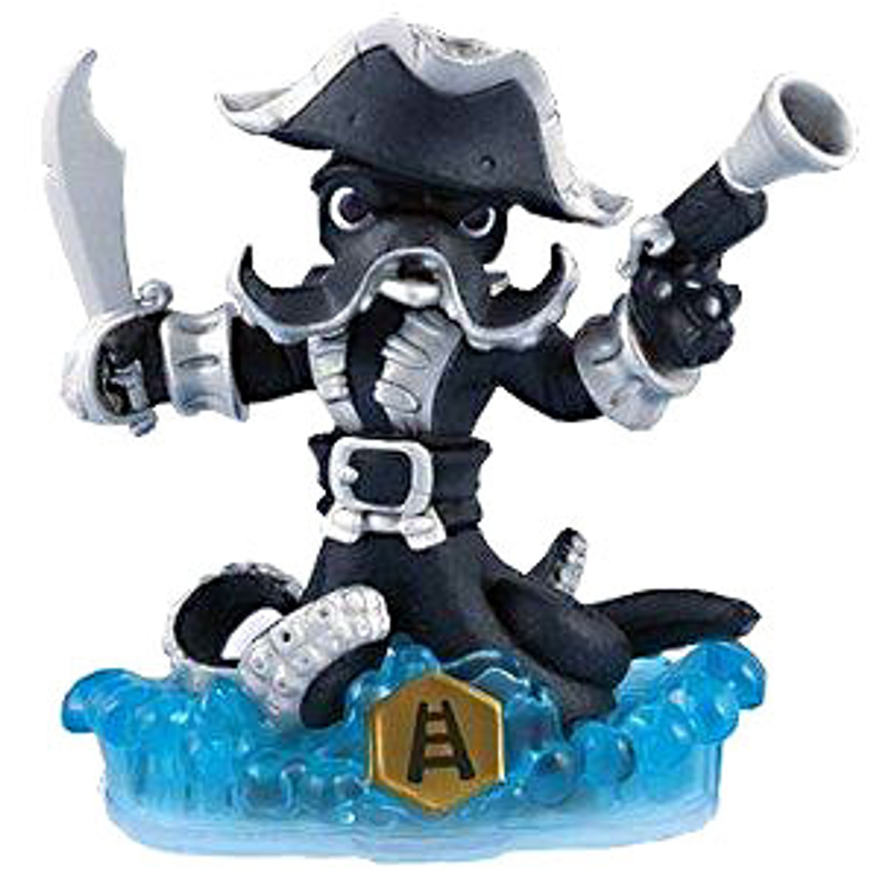 Skylanders Swap Force Loose Swappable Dark Wash Buckler Figure [Dark Loose]