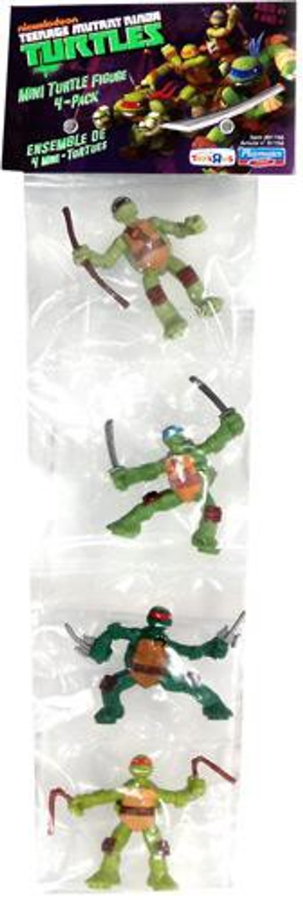 Teenage Mutant Ninja Turtles Nickelodeon Michelangelo, Donatello, Raphael & Leonardo Exclusive 2-Inch Mini Figure Set