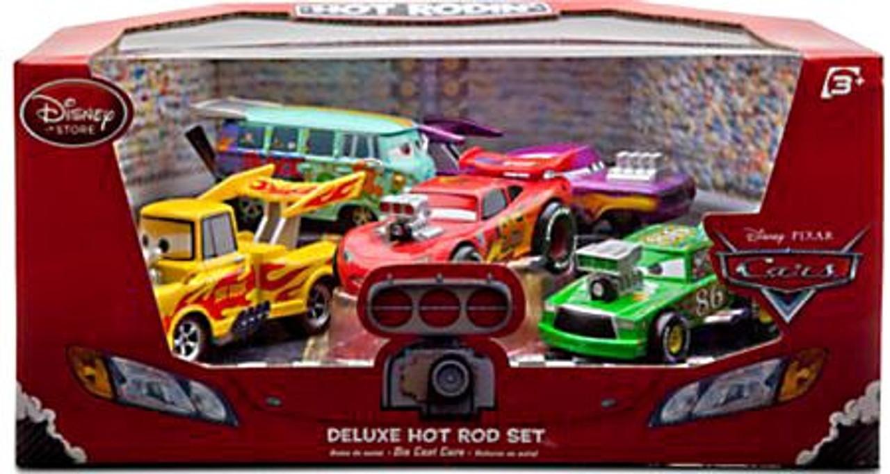 Disney Cars 1:43 Deluxe Sets Hot Rod Exclusive Diecast Car Set