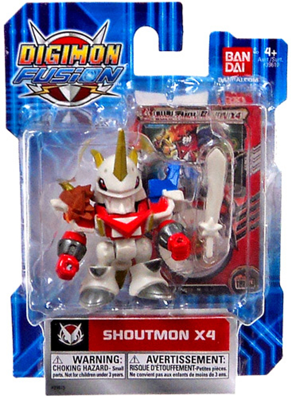 Digimon Fusion Shoutmon Action Figure [X4]