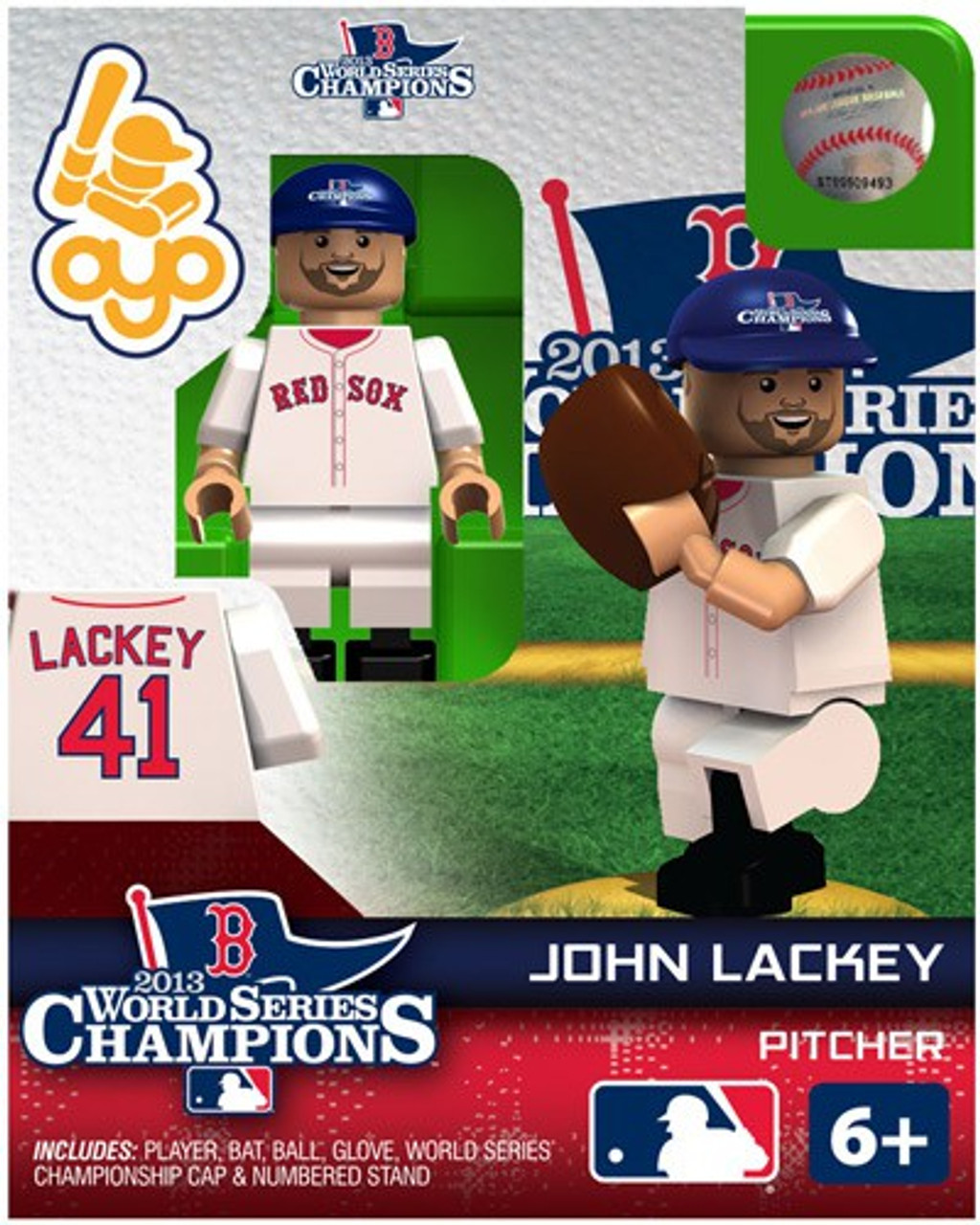 Boston Red Sox MLB 2013 World Series Champions John Lackey Minifigure