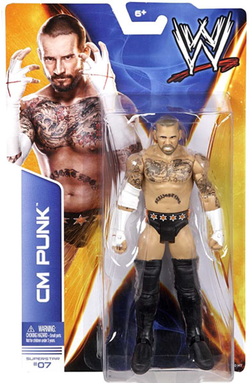 WWE Wrestling Series 36 CM Punk Action Figure #7