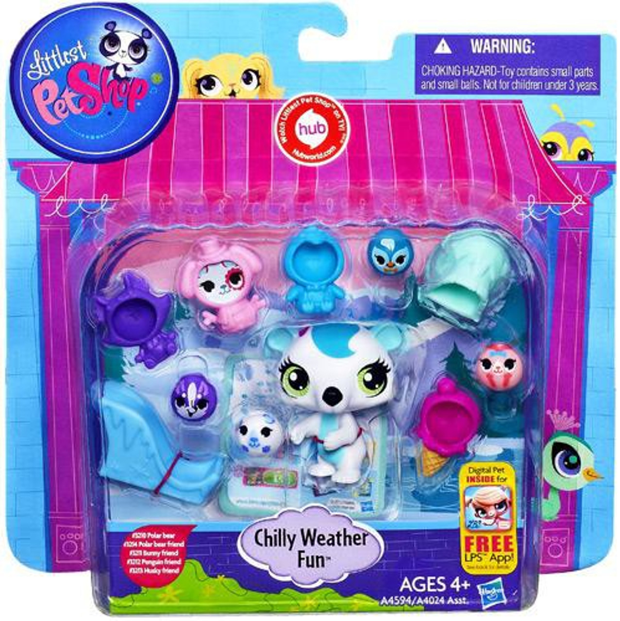 Littlest Pet Shop Chilly Weather Fun Playset