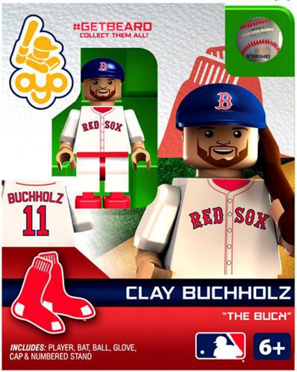 Boston Red Sox MLB Getbeard Clay Buchholz Minifigure GETBEARD [The Buck]