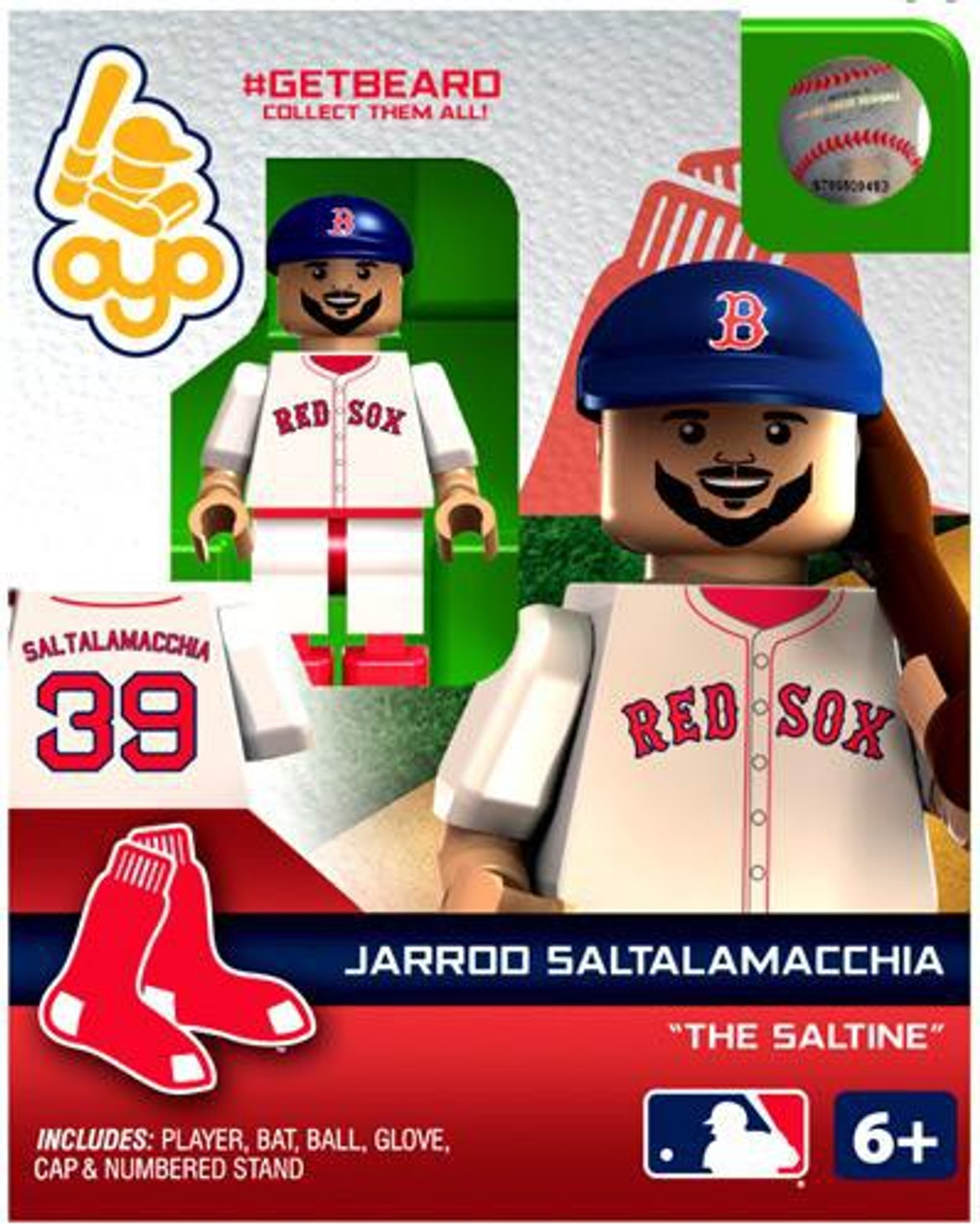 Boston Red Sox MLB Getbeard Jarrod Saltalamacchia Minifigure GETBEARD [The Saltine]