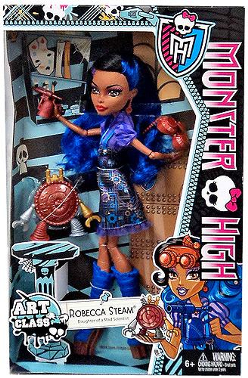 Monster High Classroom Art Class Robecca Steam 10.5-Inch Doll