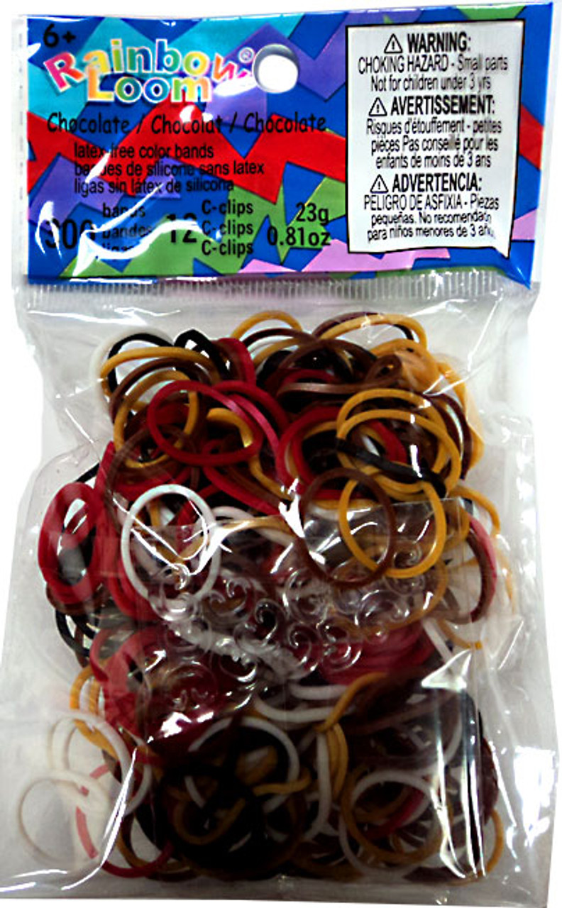 Rainbow Loom Chocolate Mix Rubber Bands Refill Pack RL40 [300 ct]