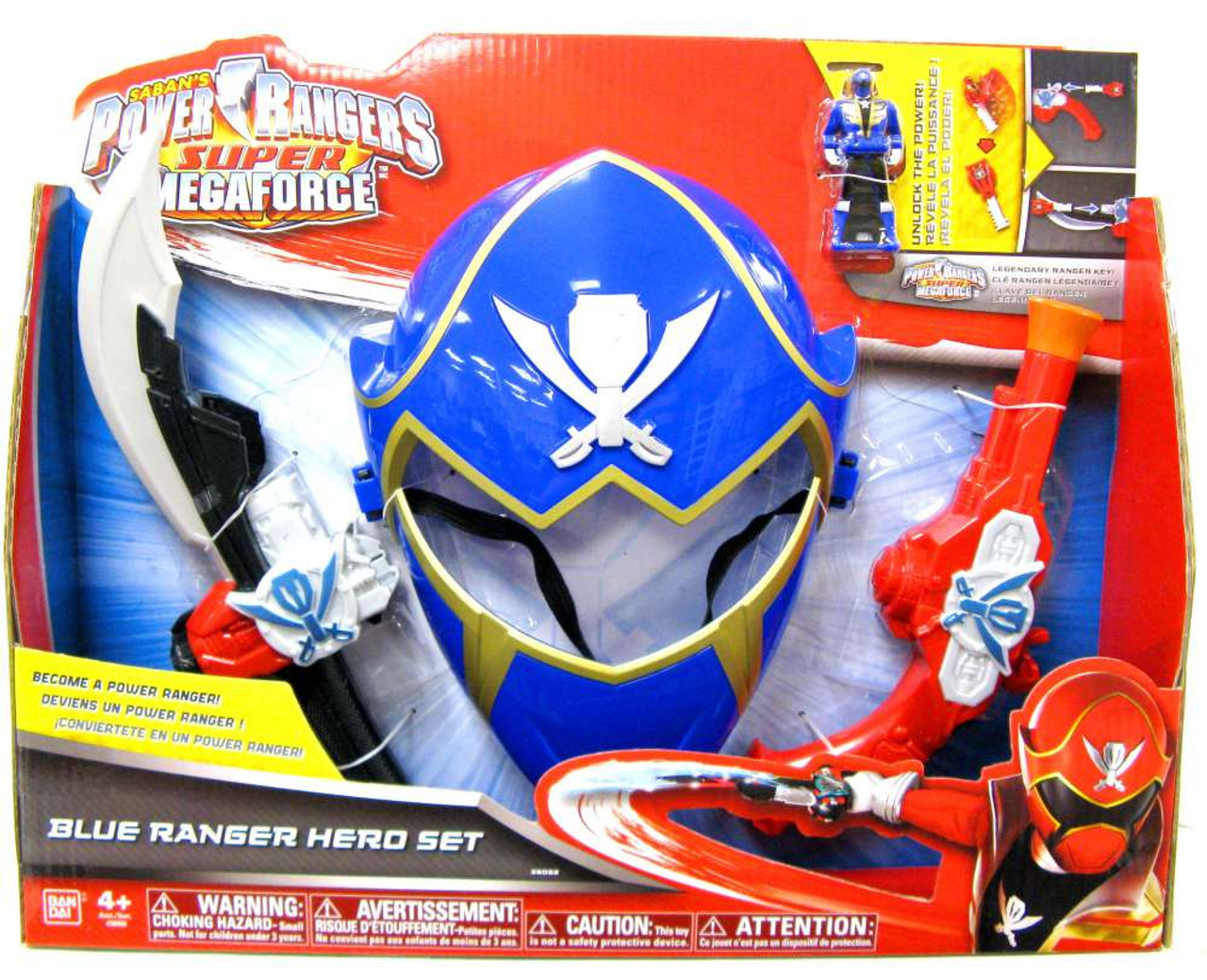 Power Rangers Super Megaforce Blue Ranger Hero Set Roleplay Toy