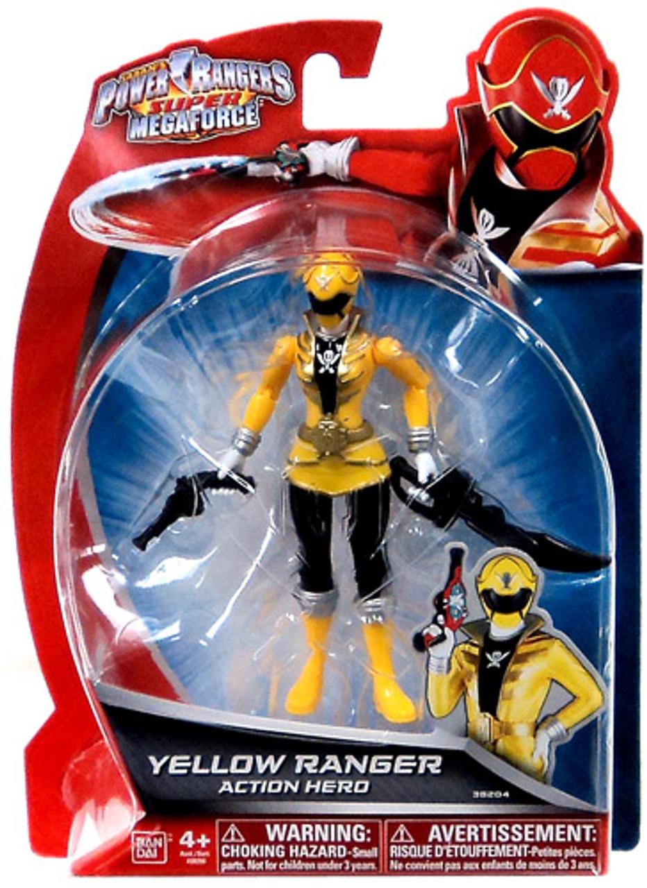Power Rangers Super Megaforce Yellow Ranger Action Hero Action Figure