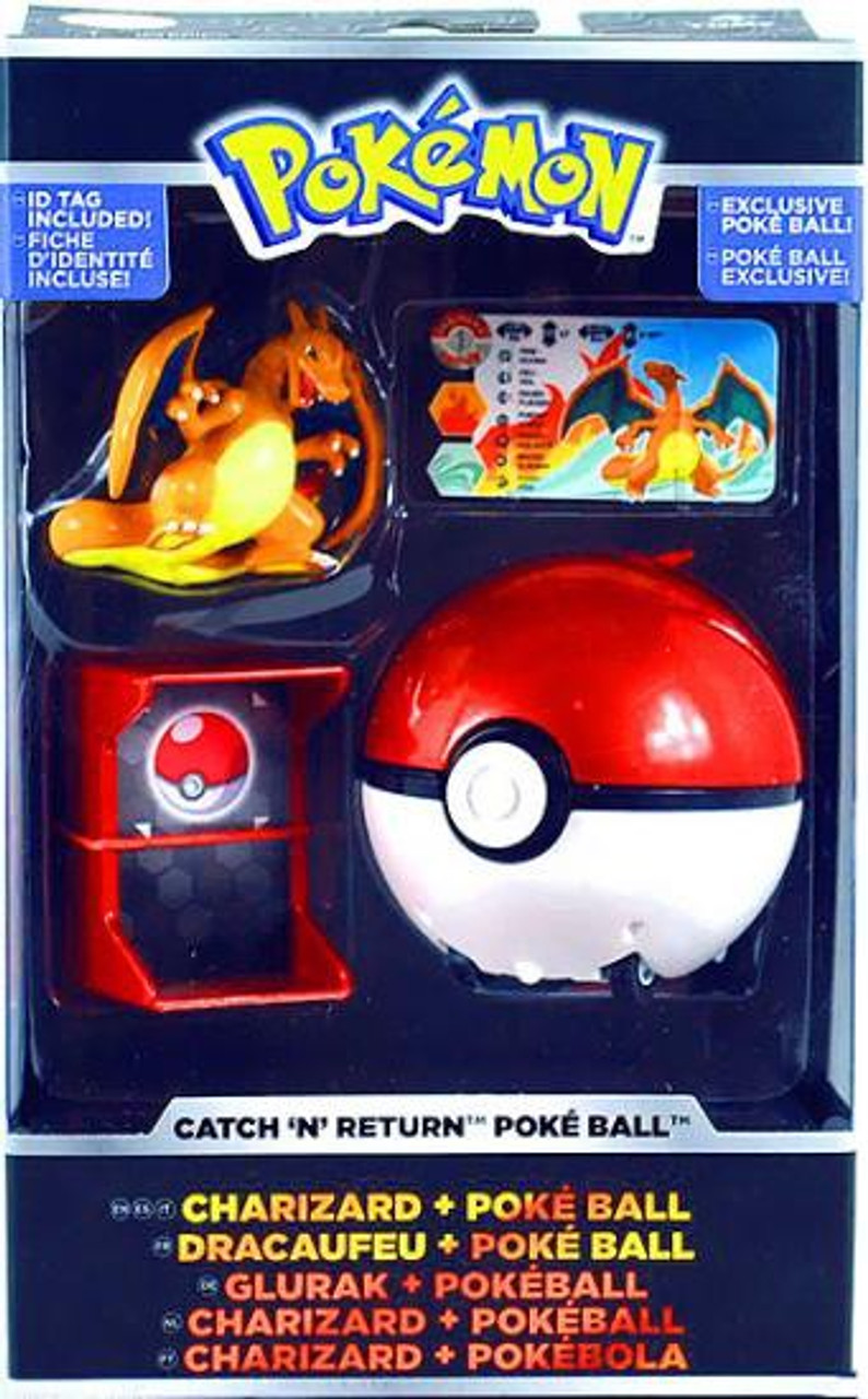 Pokemon Catch n Return Pokeball Charizard & Poke Ball Figure Set
