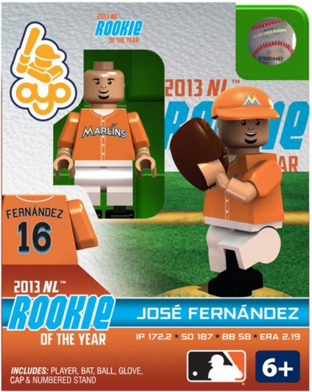 Miami Marlins MLB 2013 NL Rookie of the Year Jose Fernandez Minifigure