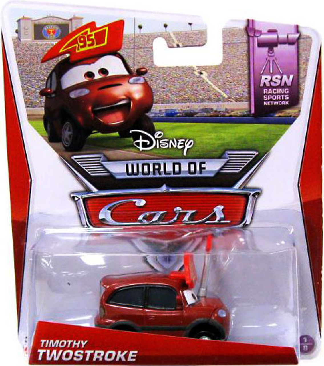 Disney Cars The World of Cars Series 2 Timothy Twostroke Diecast Car #1 of 8