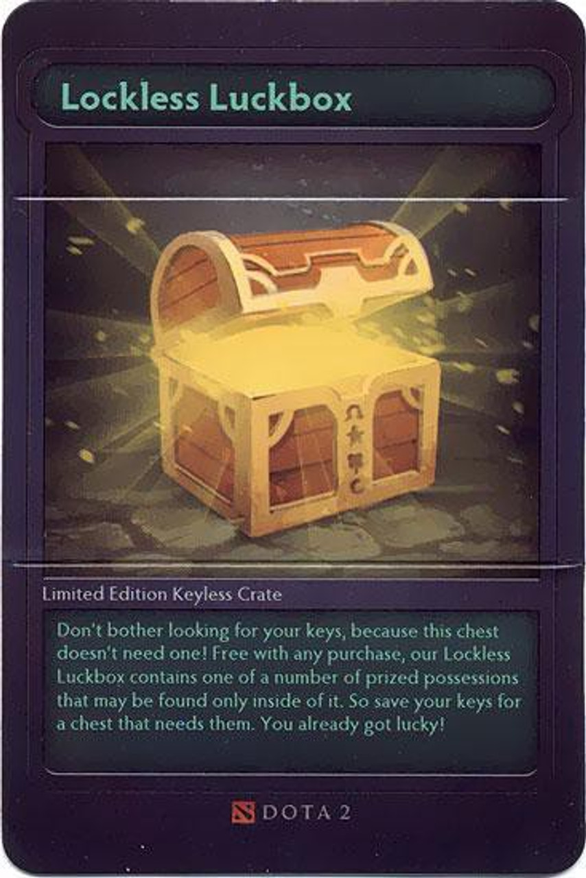 Dota 2 Lockless Luckbox Code Card