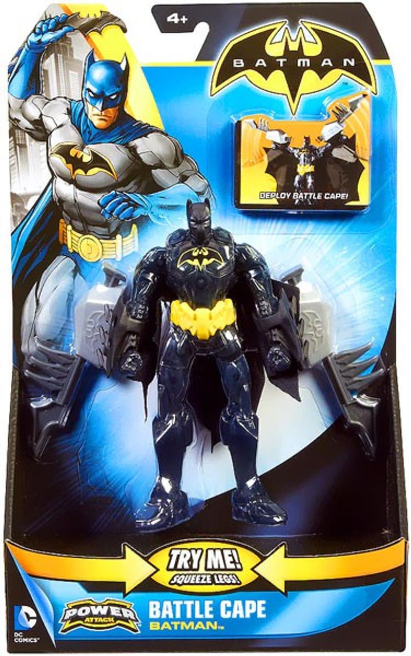 Power Attack Battle Cape Batman Action Figure