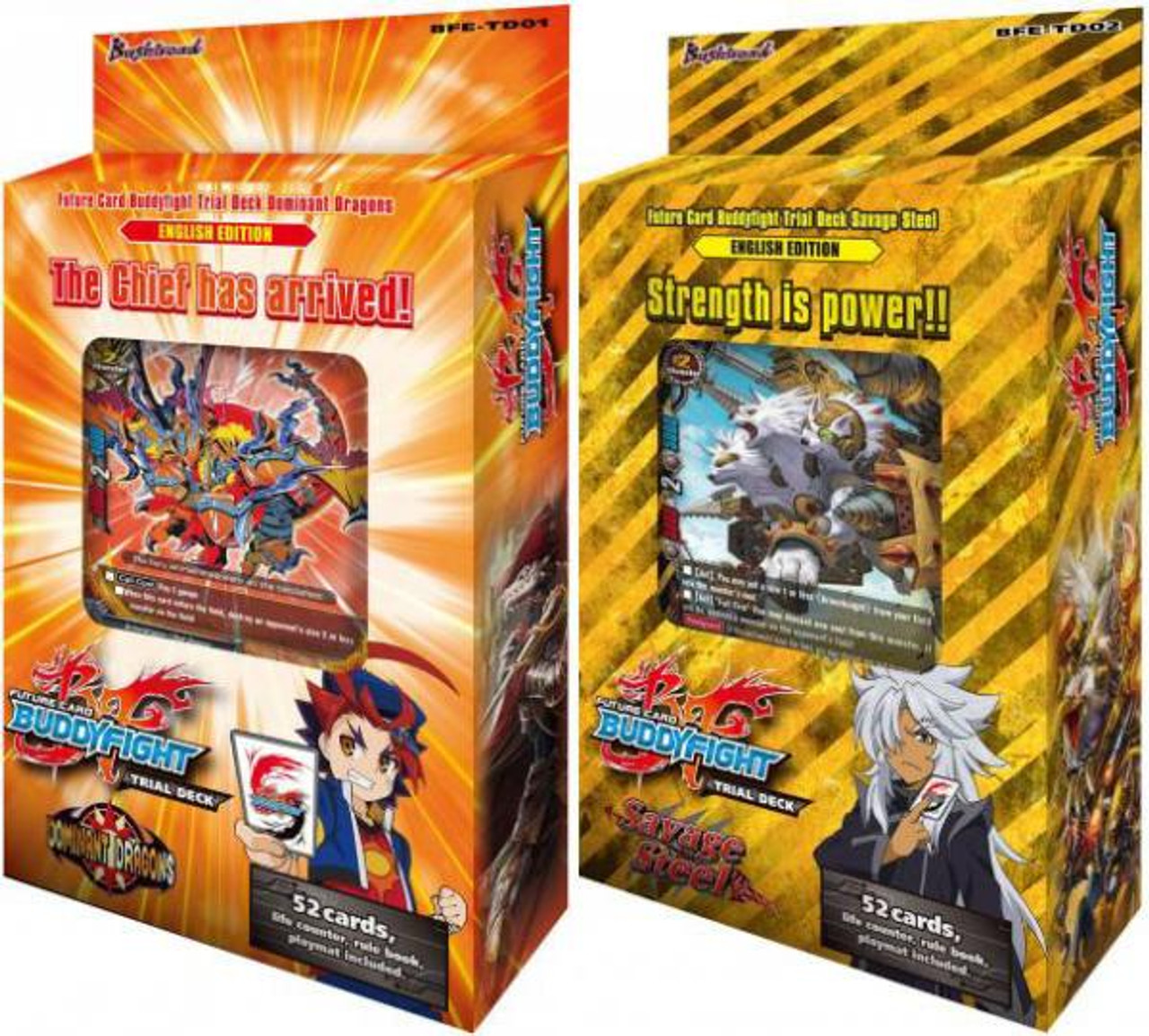 Future Card BuddyFight Set of Both Dominant Dragons & Savage Steels Trial Decks