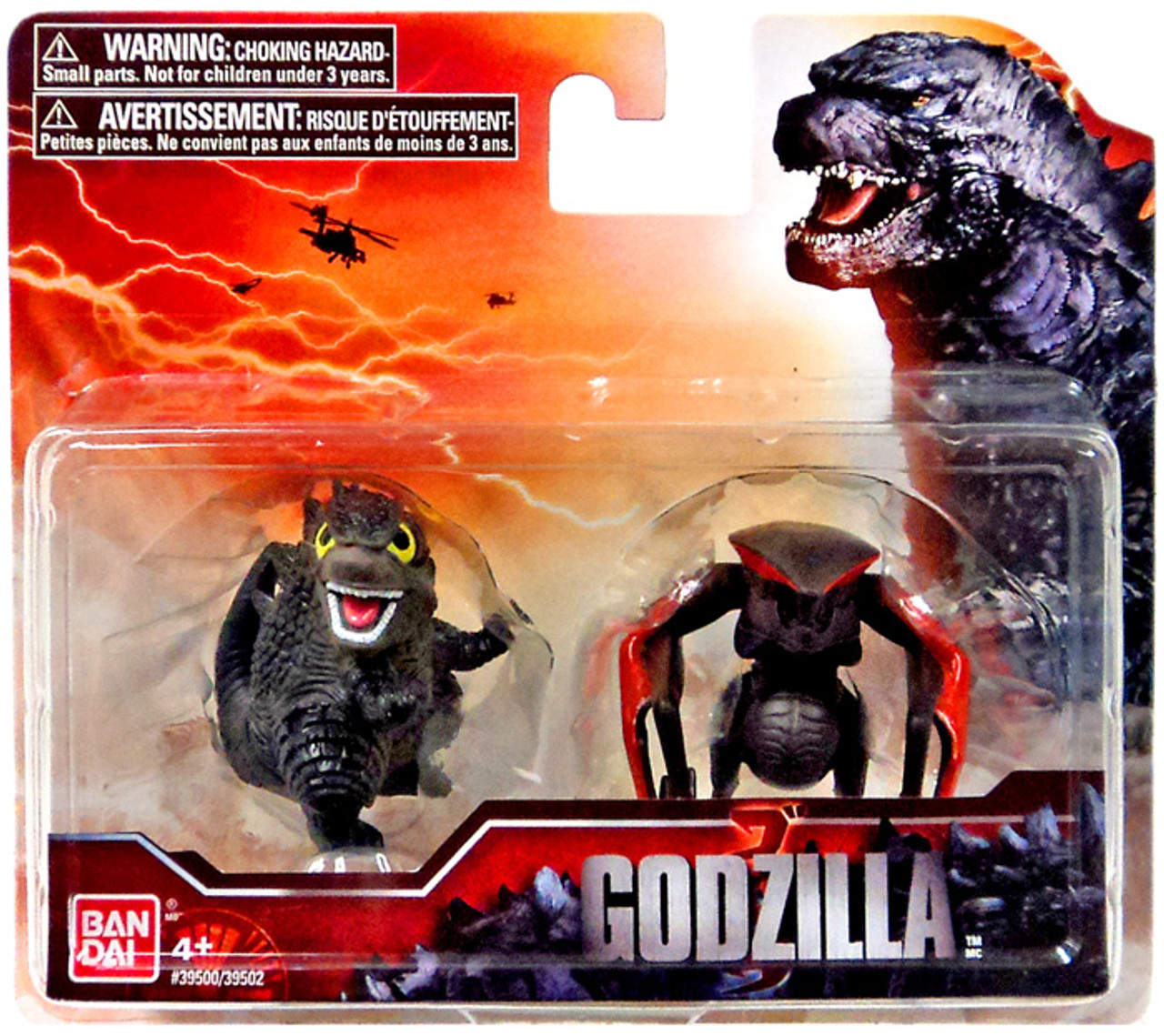 Godzilla 2014 Chibi Battle Damaged Godzilla & Female MUTO Mini Figure 2-Pack