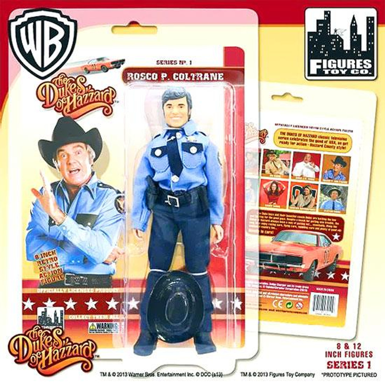 The Dukes of Hazzard Roscoe P. Coltrane Action Figure