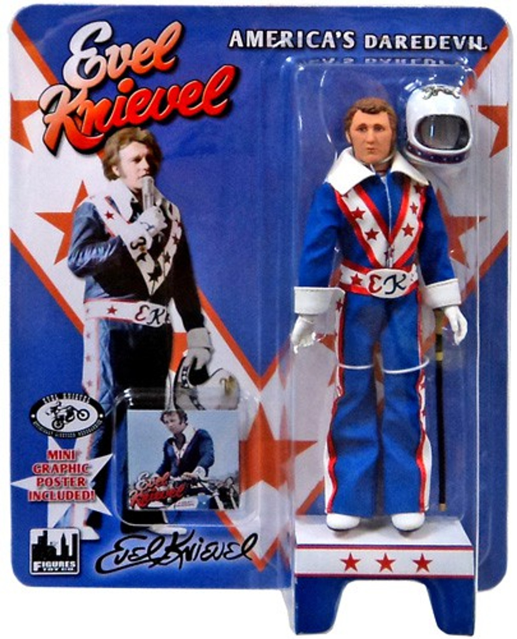 Evel Knievel Action Figure [Blue Jumpsuit]