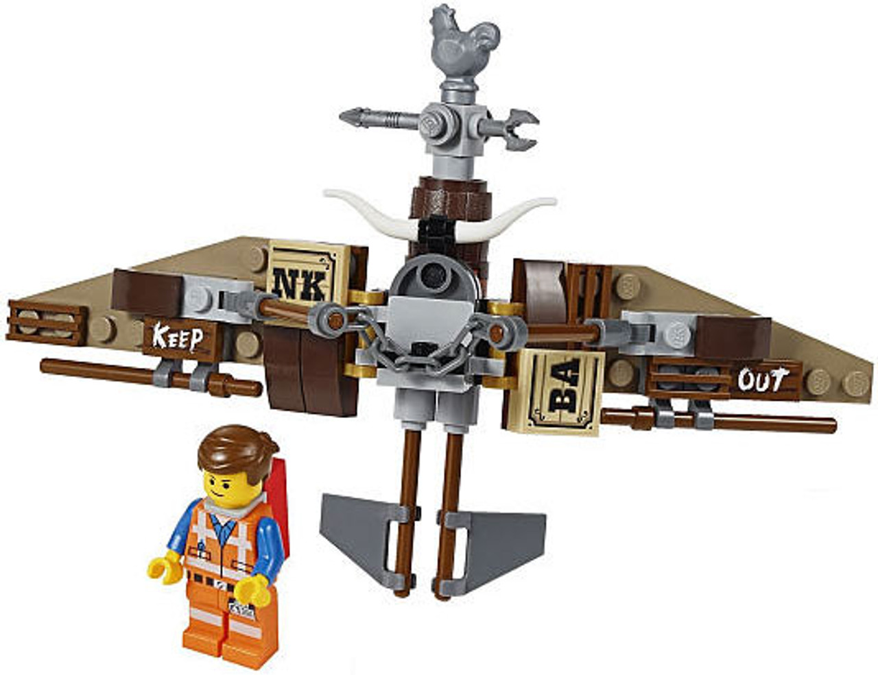 The LEGO Movie Loose Emmet Minifigure [With Glider]