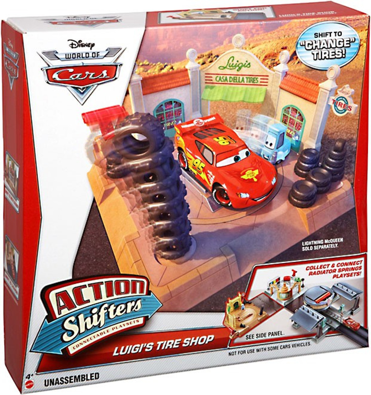 Disney Cars The World of Cars Action Shifters Luigi's Tire Shop Playset