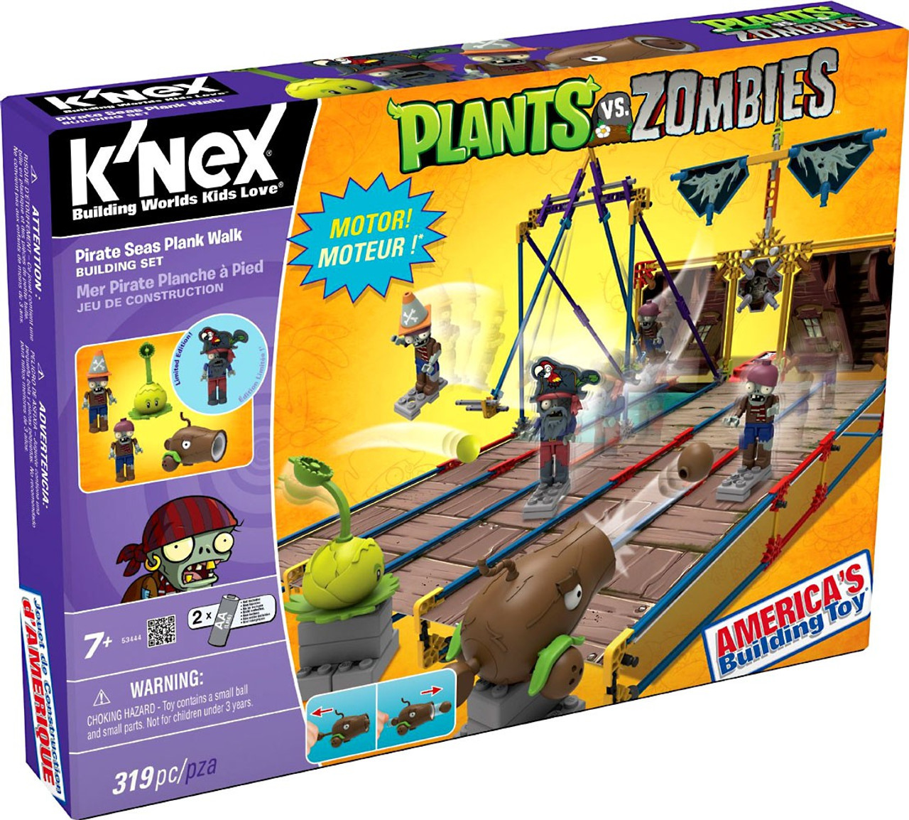 Knex plants vs zombies pirate seas plank walk set 53444 for Zombie build