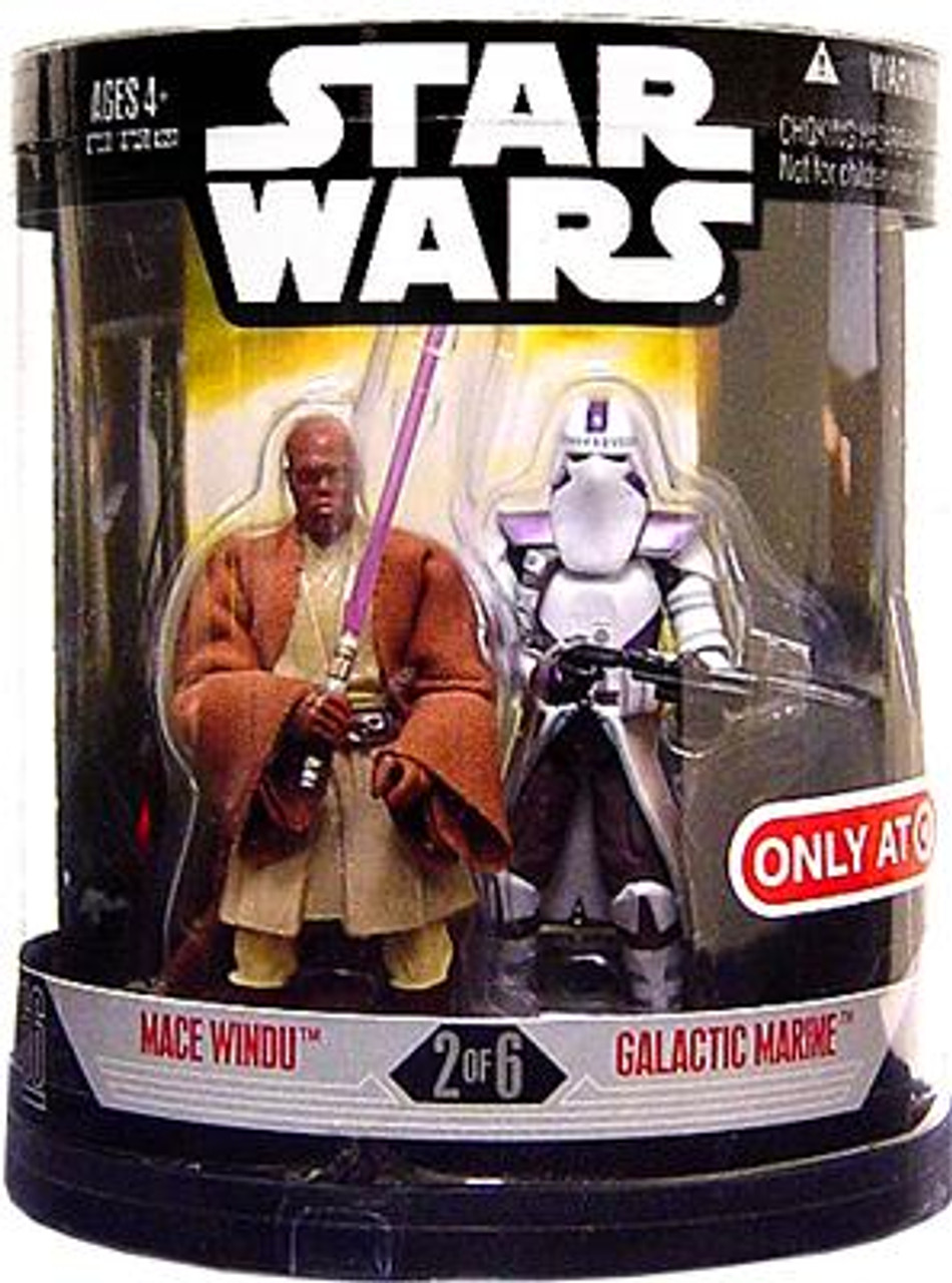 Star Wars Revenge of the Sith Order 66 2007 Mace Windu & Galactic Marine Exclusive Action Figure 2-Pack #2 of 6