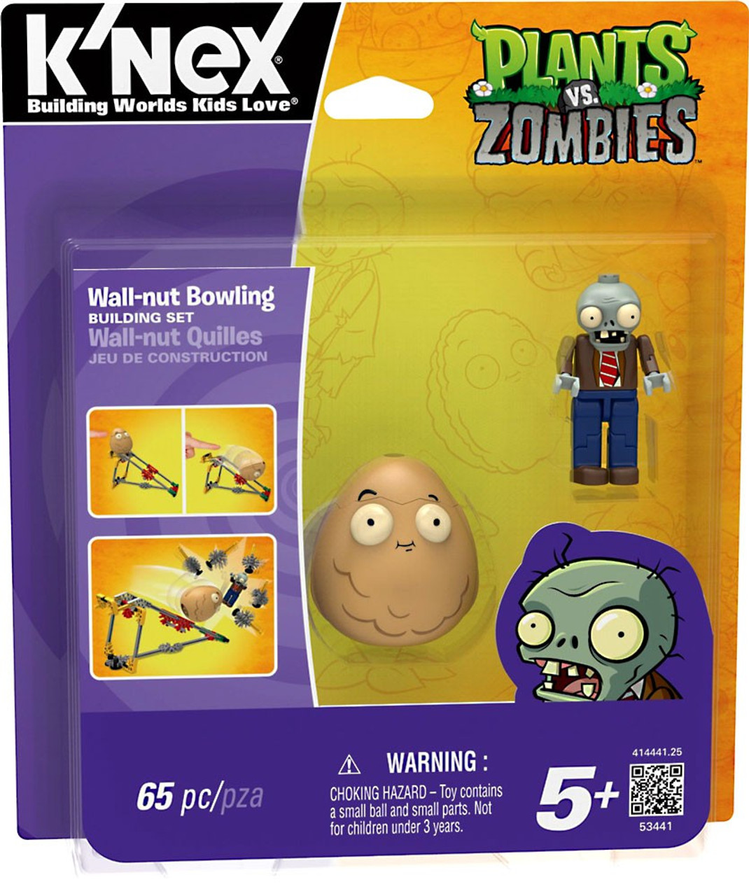 K'NEX Plants vs. Zombies Wall-Nut Bowling Set #53441