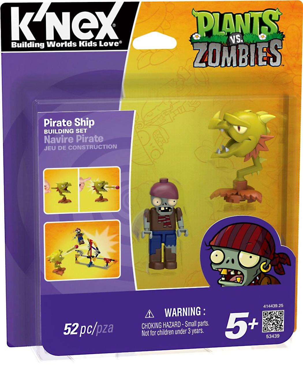 K'NEX Plants vs. Zombies Pirate Ship Set #53439