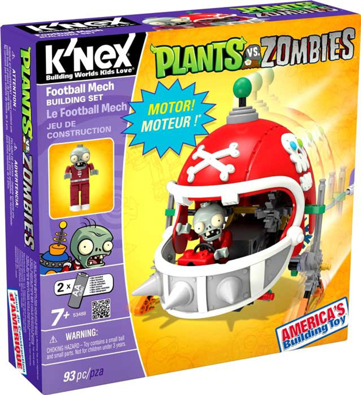 K'NEX Plants vs. Zombies Football Mech Set #53488
