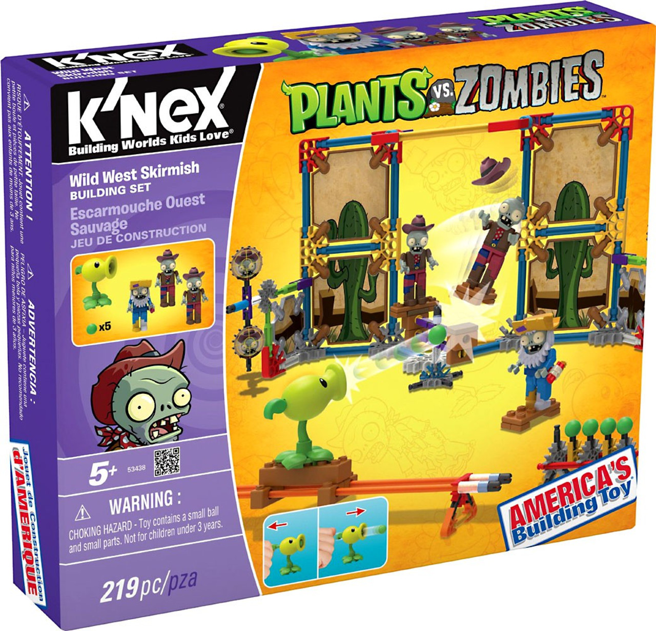K'NEX Plants vs. Zombies Wild West Skirmish Set #53438