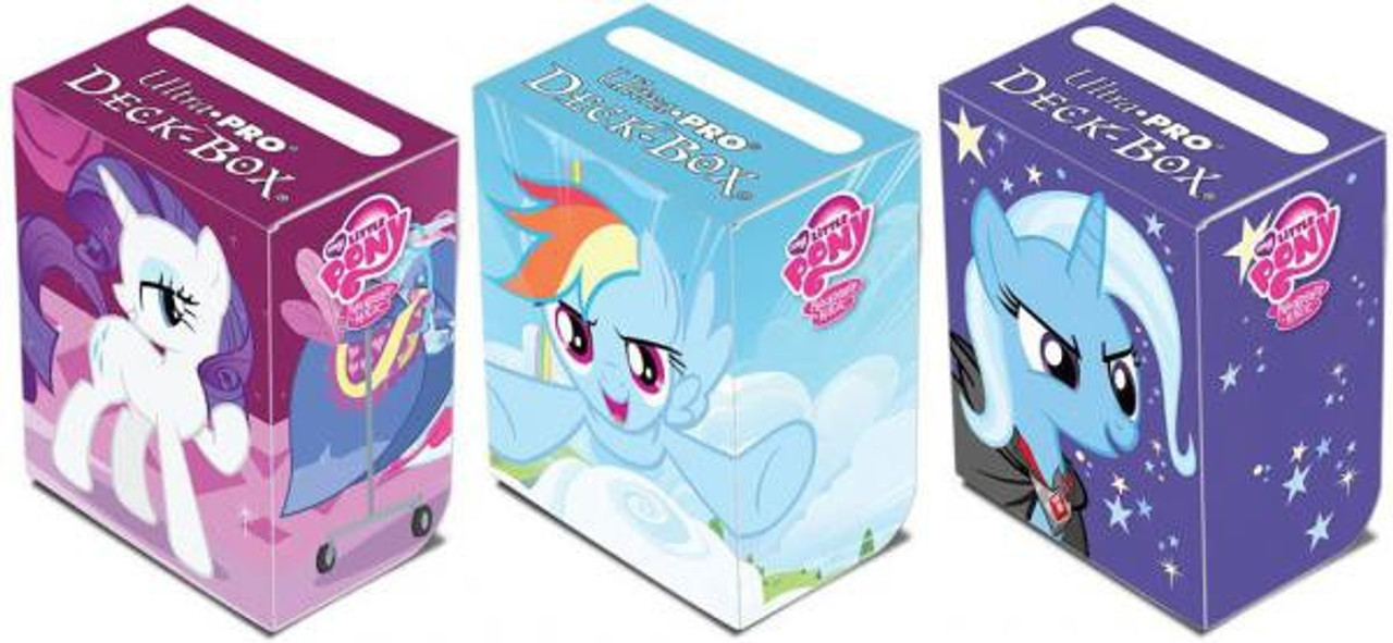 Ultra Pro My Little Pony Collectible Card Game Card Supplies Set of 3 Deck Boxes