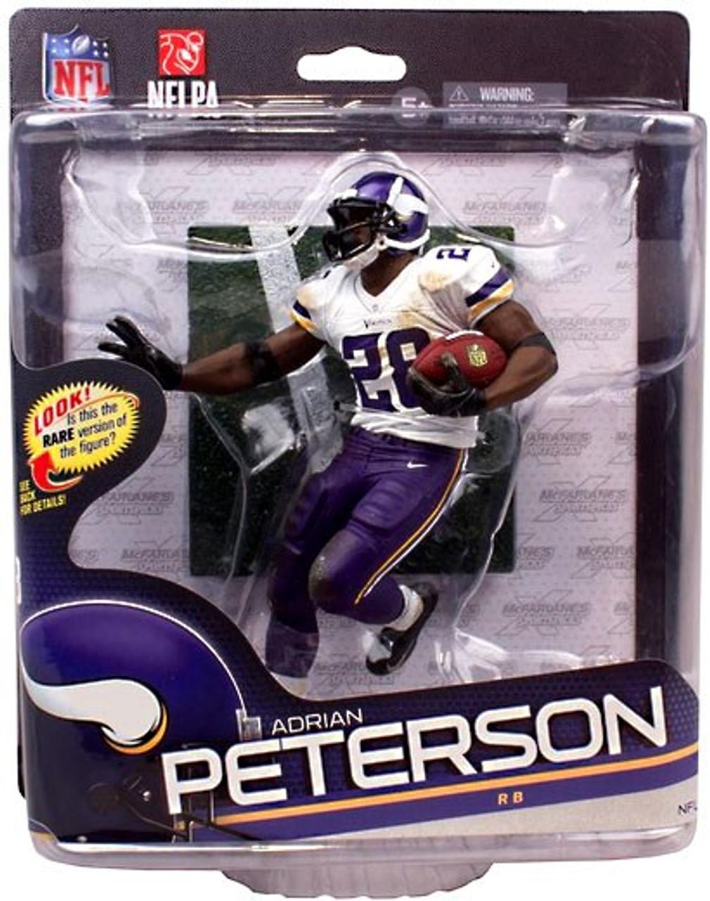 McFarlane Toys NFL Minnesota Vikings Sports Picks Series 34 Adrian Peterson Action Figure [White Jersey]