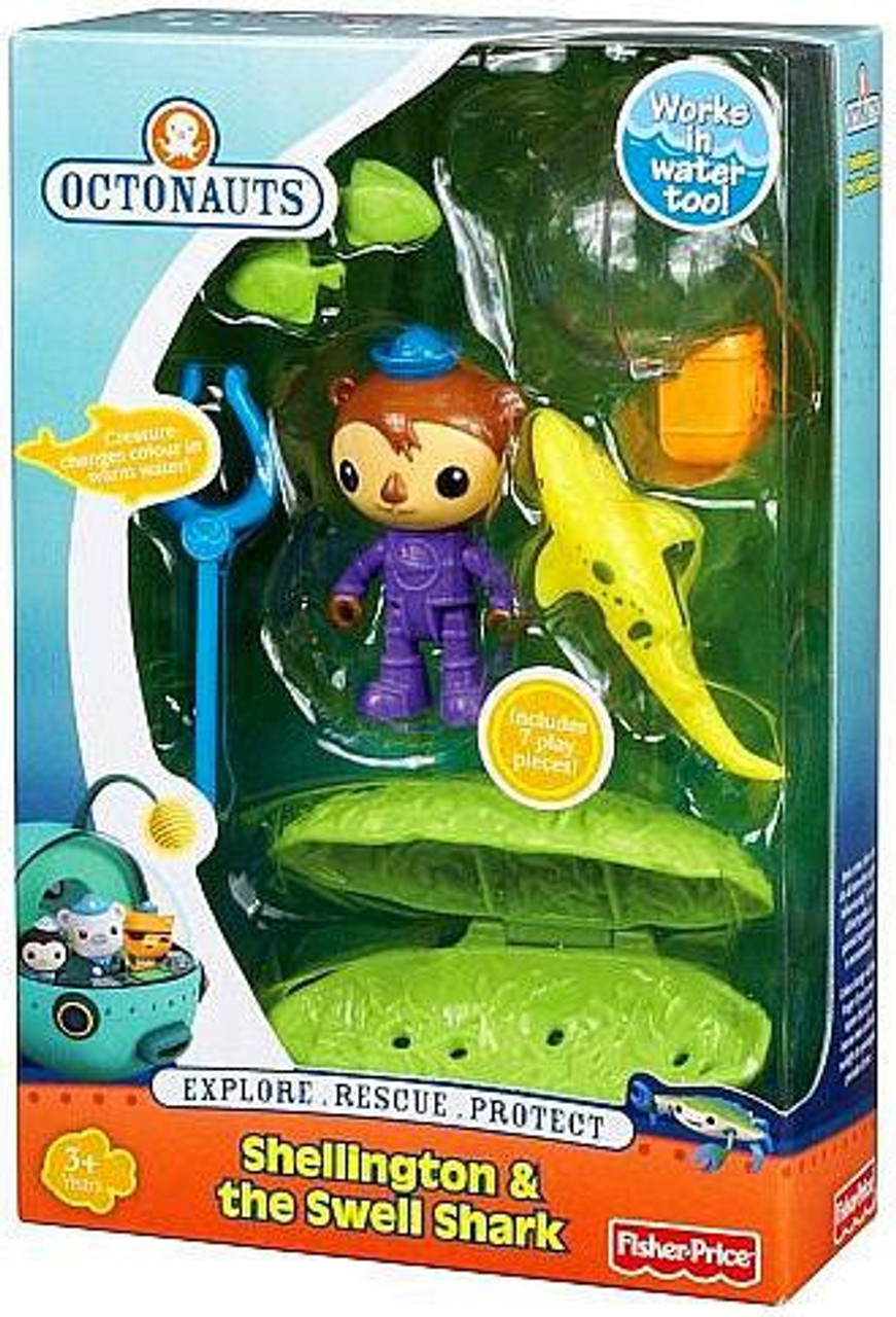 Fisher Price Octonauts Rescue Shellington & The Swell Shark Figure 2-Pack