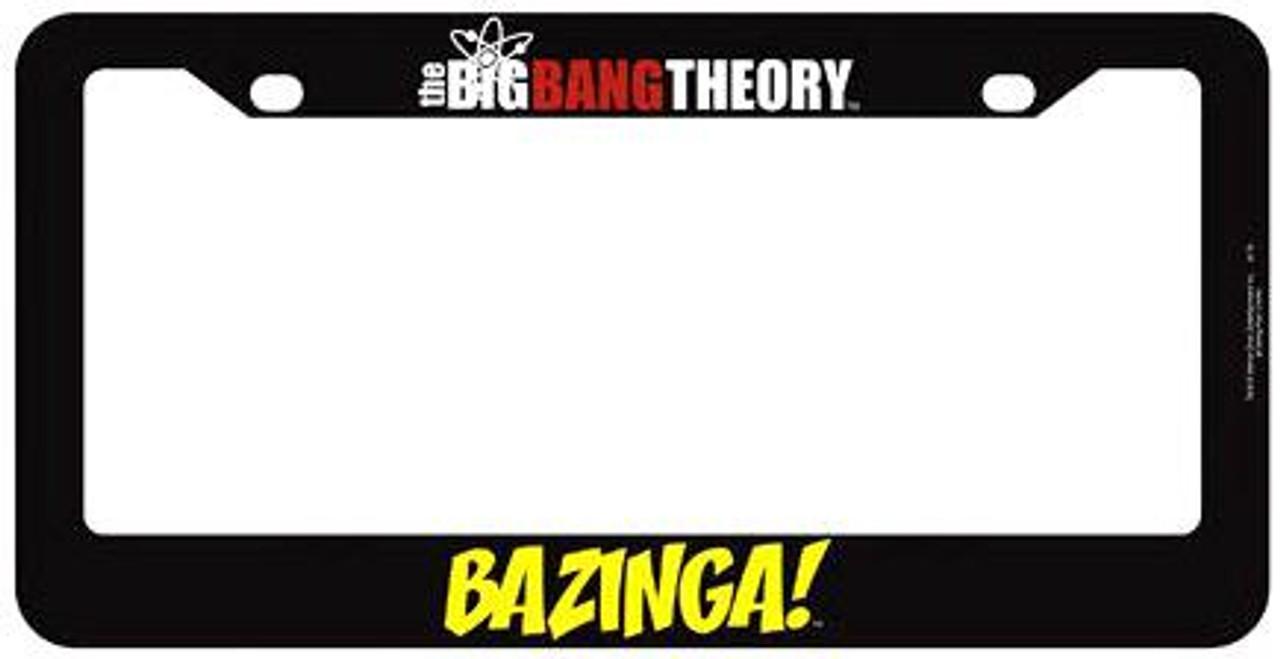 The Big Bang Theory BAZINGA! License Plate Frame