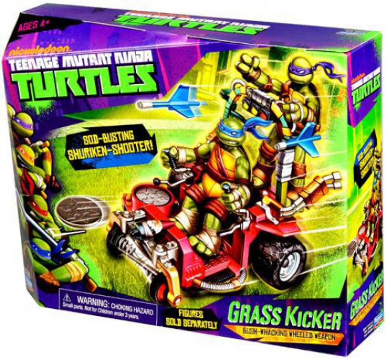 Teenage Mutant Ninja Turtles Nickelodeon Grass Kicker Action Figure Vehicle
