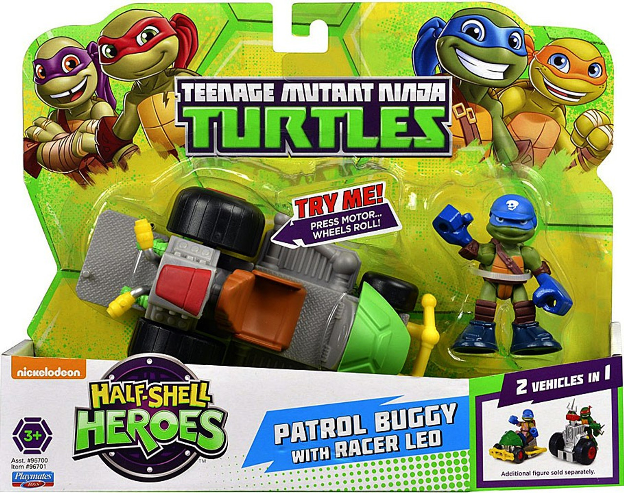 Teenage Mutant Ninja Turtles TMNT Half Shell Heroes Patrol Buggy Action Figure Vehicle