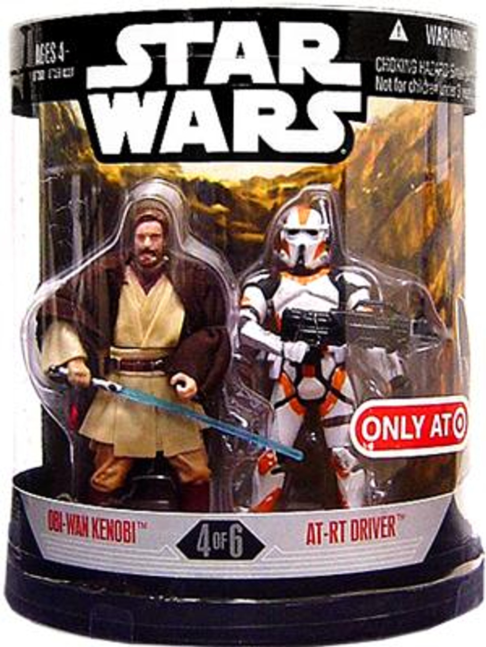 Star Wars Revenge of the Sith Order 66 2007 Obi-Wan & AT-RT Driver Exclusive Action Figure 2-Pack #4 of 6