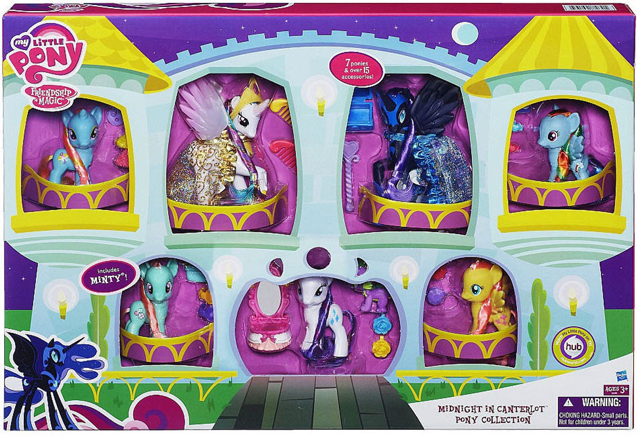 My Little Pony Friendship is Magic Midnight in Canterlot Pony Collection Exclusive Mini Figure 8-Pack