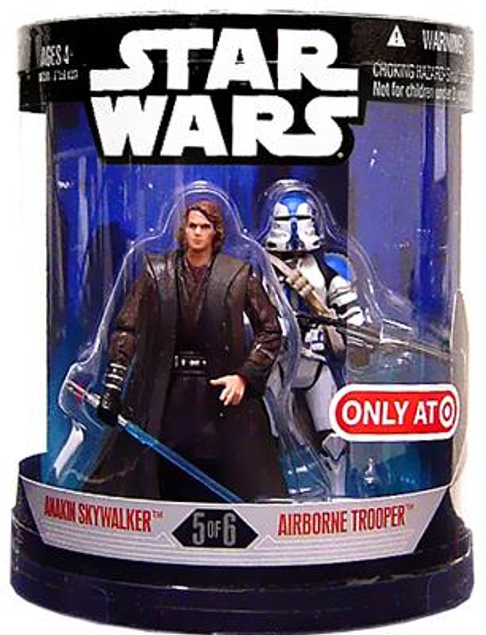 Star Wars Revenge of the Sith Order 66 2007 Anakin Skywalker & Airborne Trooper Exclusive Action Figure 2-Pack #5 of 6