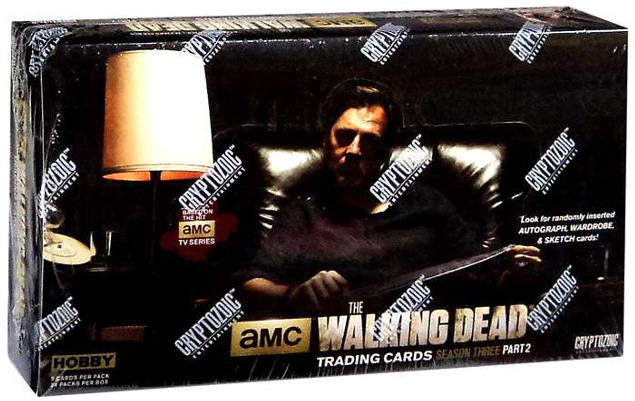 AMC TV The Walking Dead Season 3 Part 2 Trading Card Box