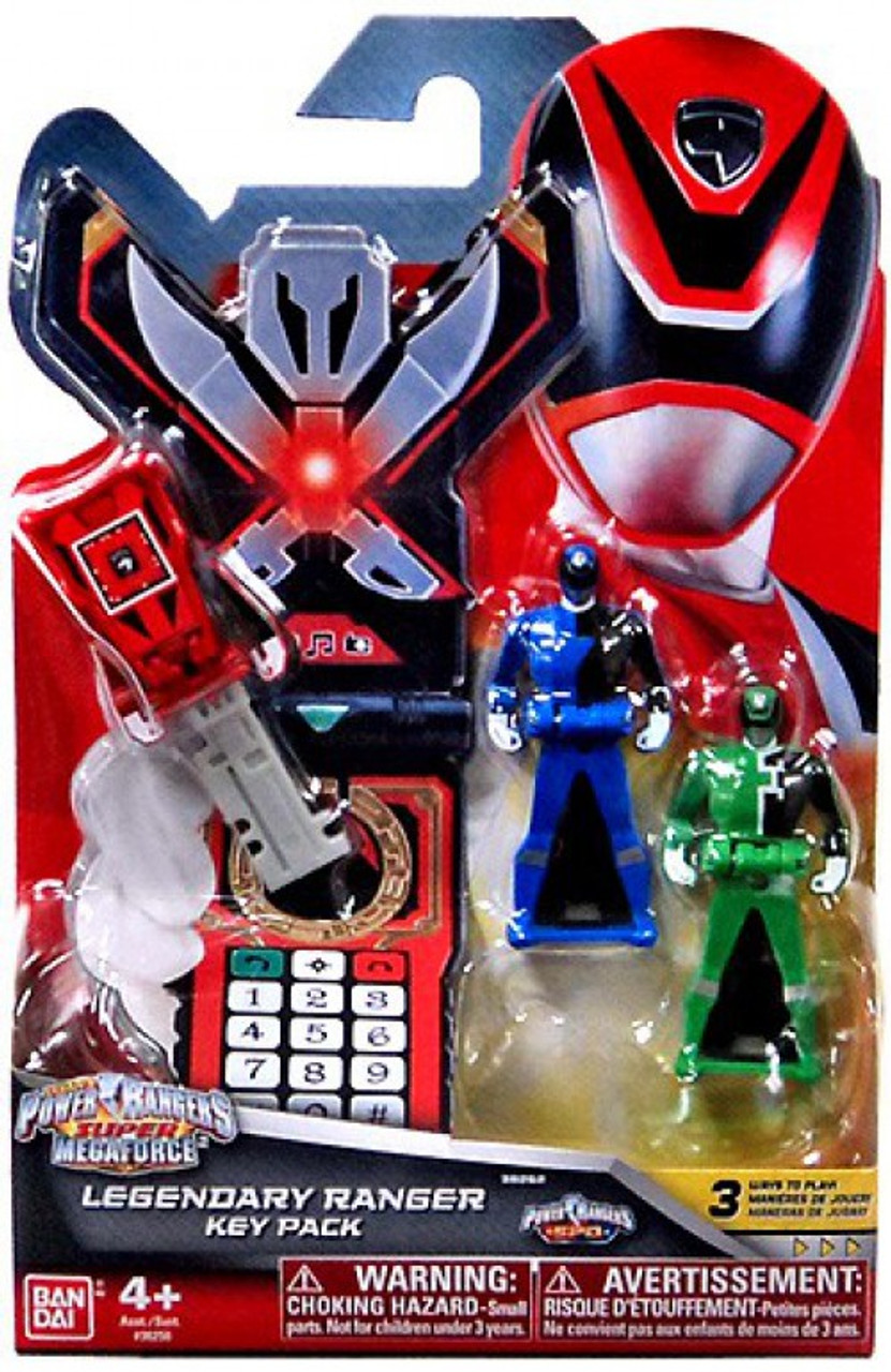Power Rangers Super Megaforce Legendary Ranger Key Pack Roleplay Toy [SPD, Red, Blue & Green]