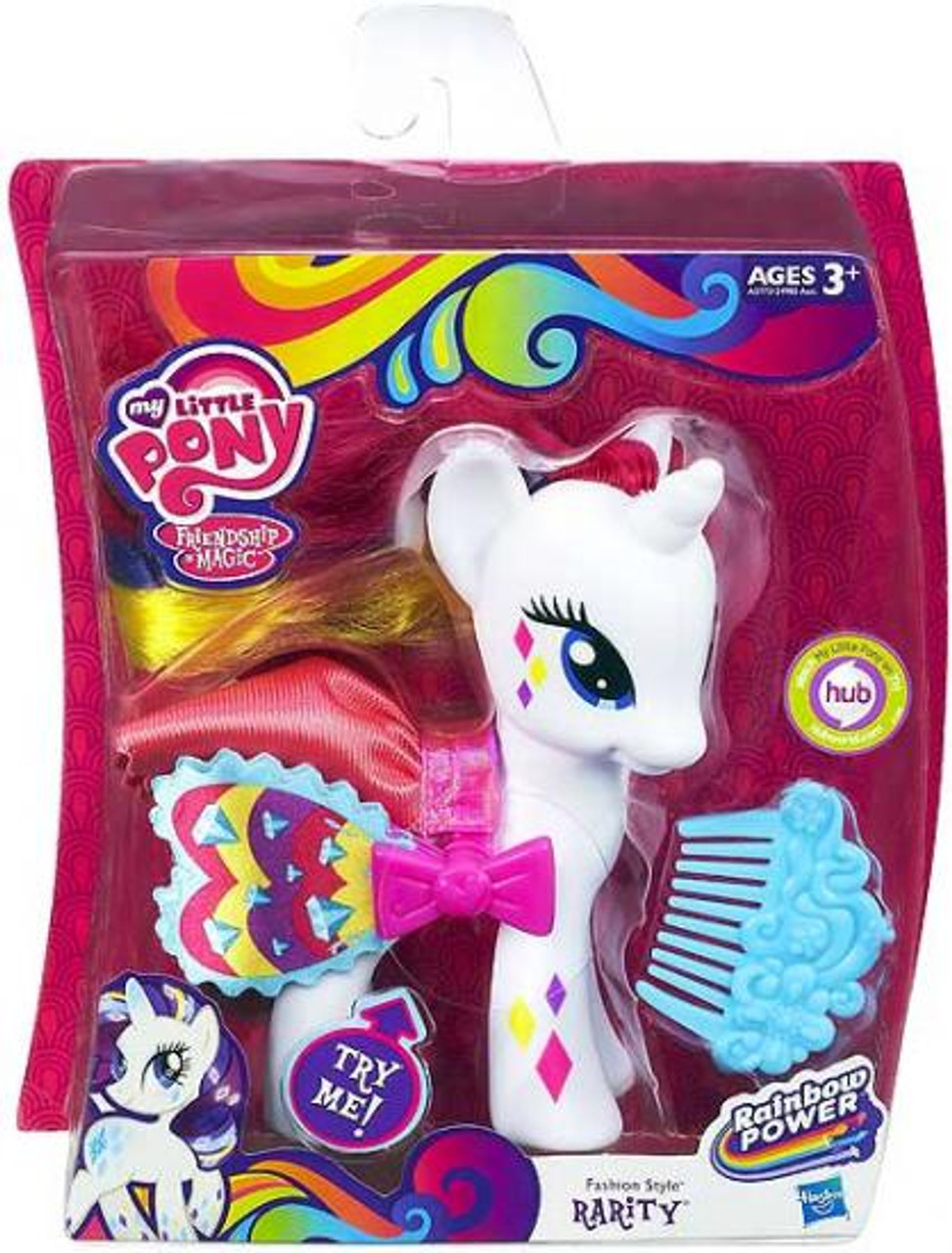 My Little Pony Friendship is Magic Rainbow Power Fashion Style Rarity Figure