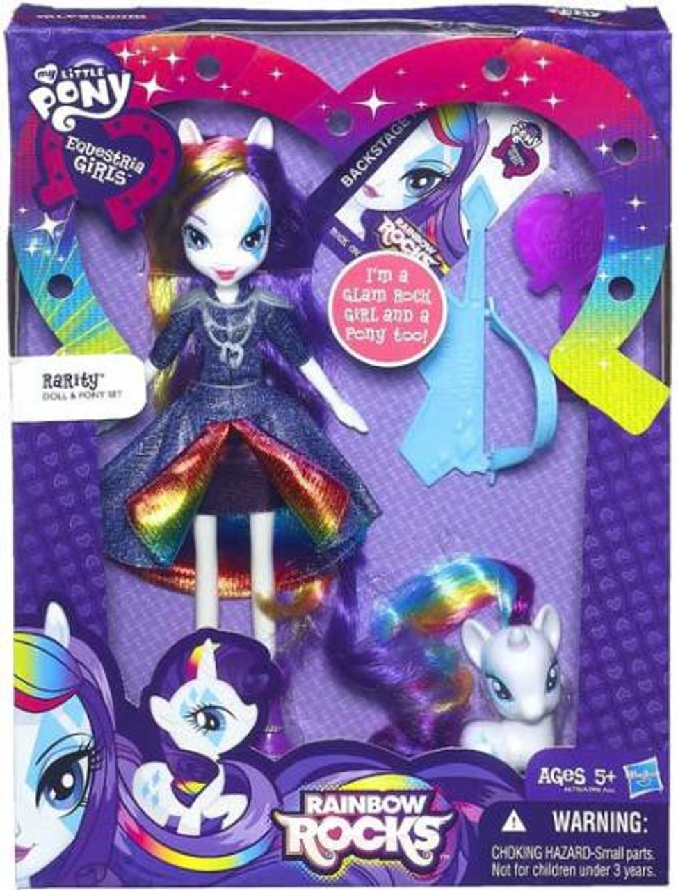 My Little Pony Equestria Girls Rainbow Rocks Rarity 9-Inch Doll & Pony Set