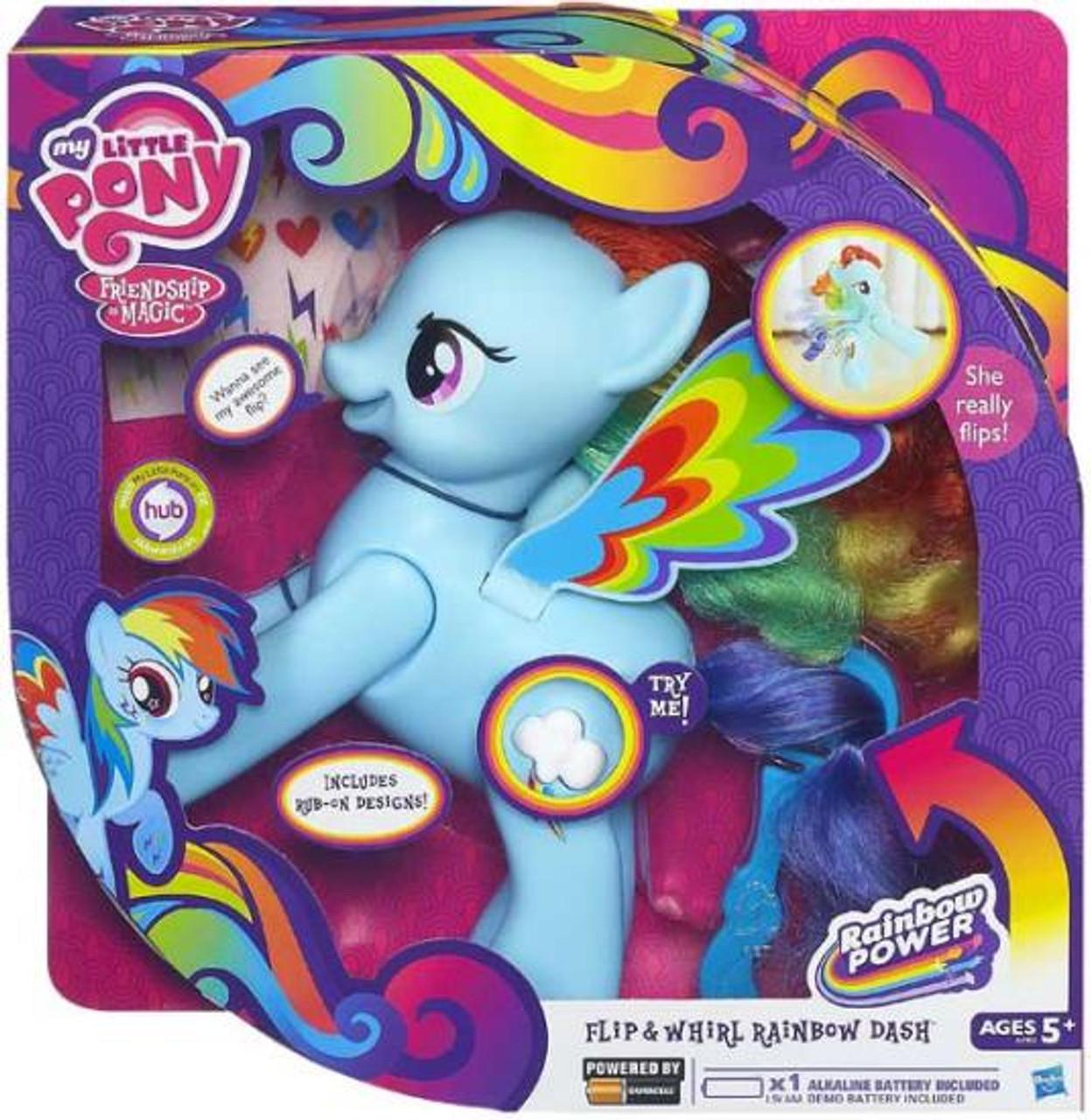 My Little Pony Friendship is Magic Rainbow Power Flip & Whirl Rainbow Dash Figure