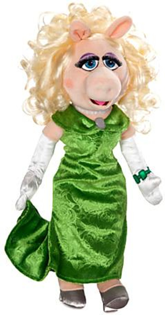 Disney The Muppets Muppets Most Wanted Miss Piggy Exclusive 19-Inch Plush Figure [Green Dress]