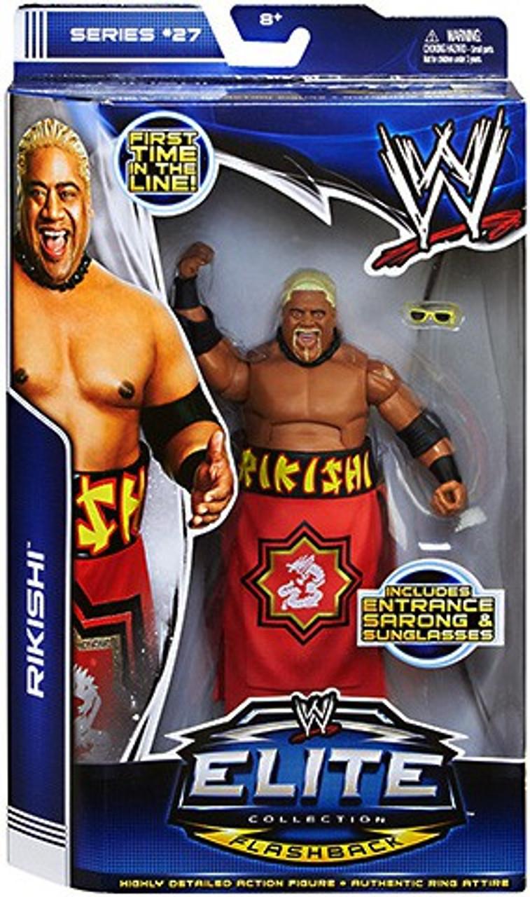 WWE Wrestling Elite Series 27 Rikishi Action Figure [Entrance Sarong & Sunglasses]