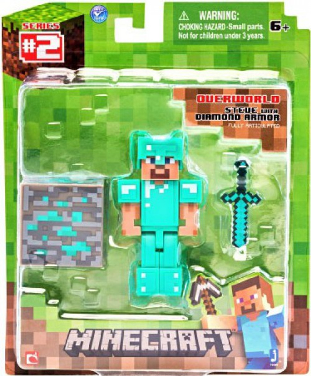 Minecraft Series 2 Steve with Diamond Armor Action Figure [Overworld]