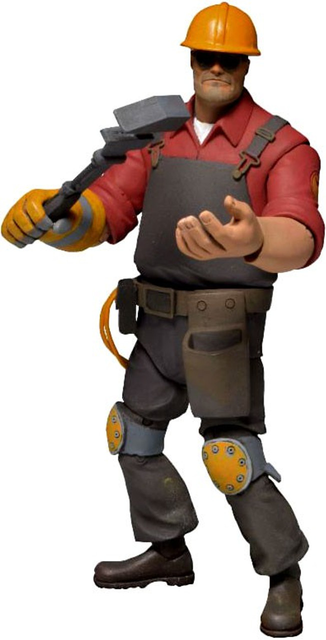 neca team fortress 2 red series 3 the engineer action figure toywiz. Black Bedroom Furniture Sets. Home Design Ideas