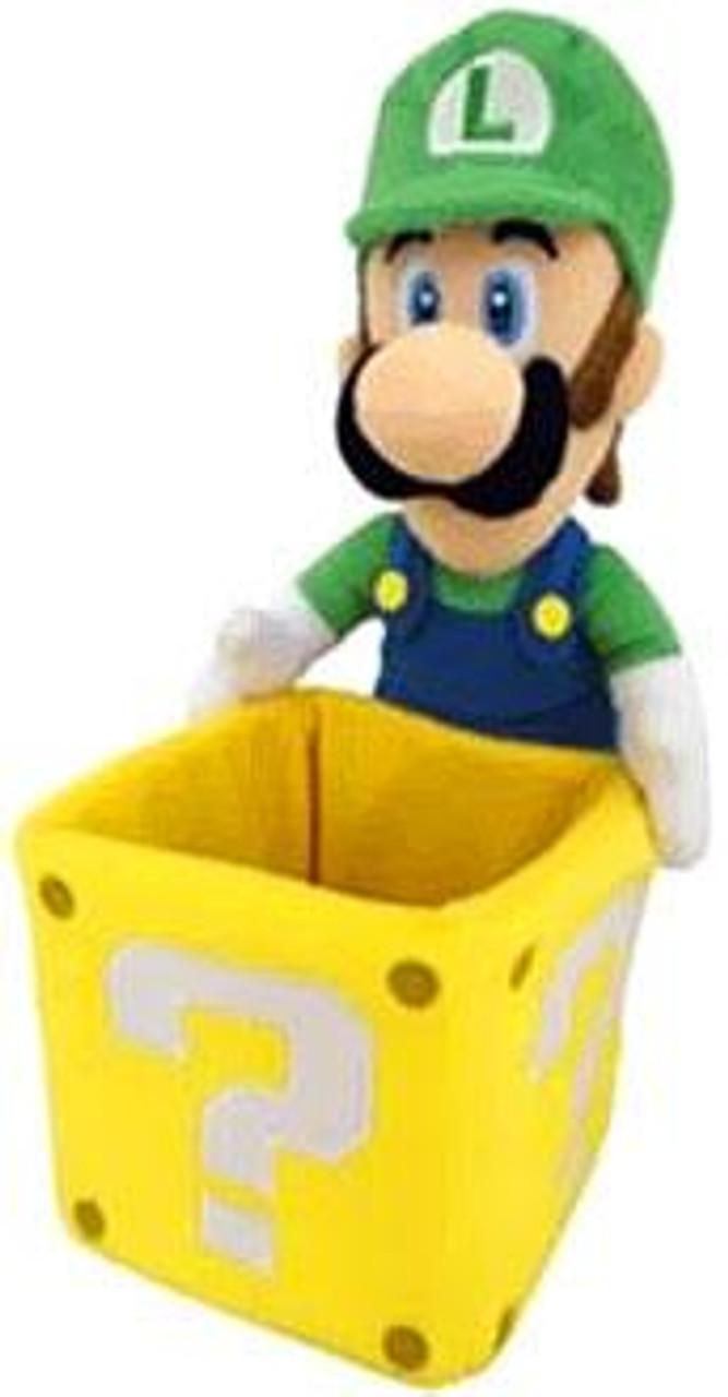 Super Mario Luigi 9-Inch Plush [With Coin Box]